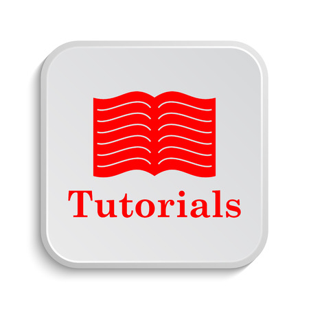 tutoriels: Tutorials icon. Internet button on white background.