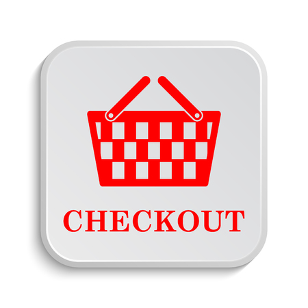 checkout: Checkout icon. Internet button on white background.