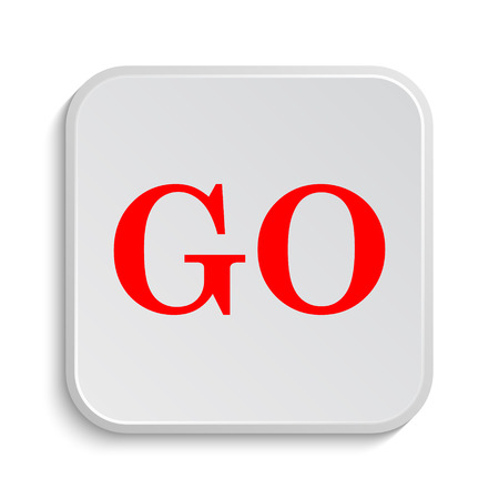 computer banner: GO icon. Internet button on white background. Stock Photo