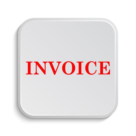 payable: Invoice icon. Internet button on white background.