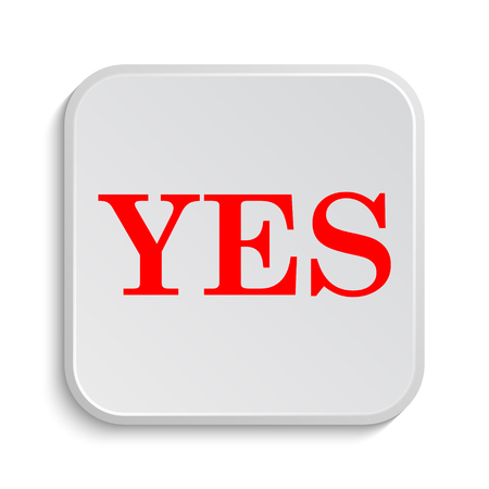 yea: Yes icon. Internet button on white background.