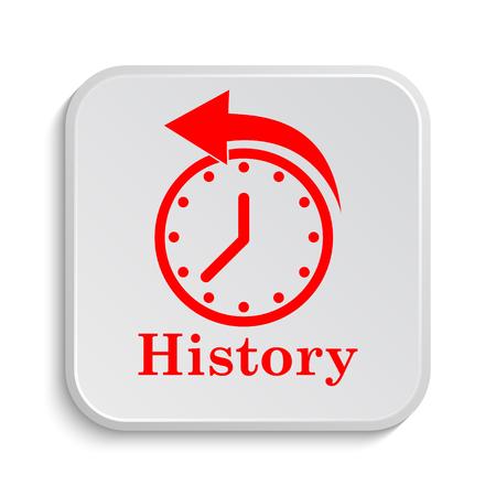 haste: History icon. Internet button on white background.