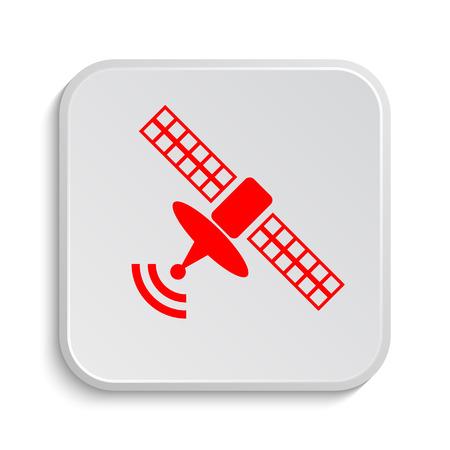 world receiver: Antenna icon. Internet button on white background.