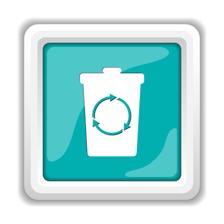 dispose: Recycle bin icon. Internet button on white background.