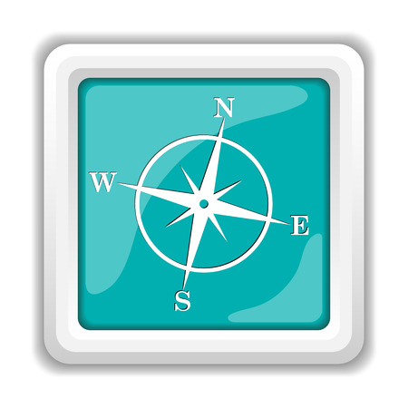 button icons: Compass icon. Internet button on white background.