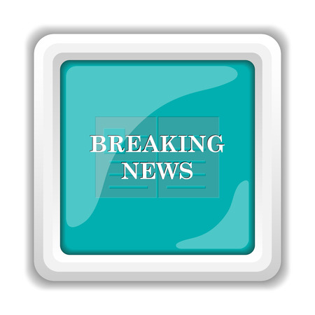 releasing: Breaking news icon. Internet button on white background.