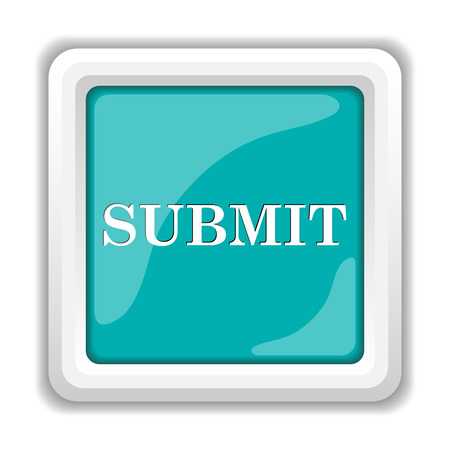 submitting: Submit icon. Internet button on white background.