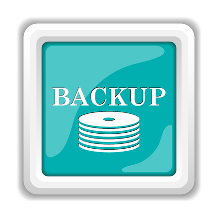 restoring: Back-up icon. Internet button on white background.