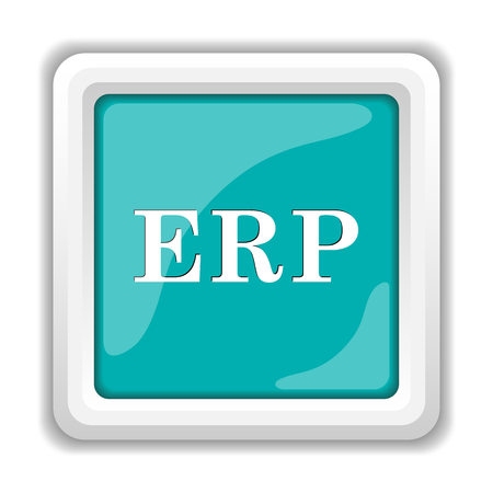 erp icon internet button on white background stock photo picture