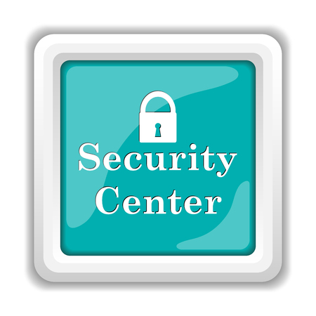 broadband: Security center icon. Internet button on white background.