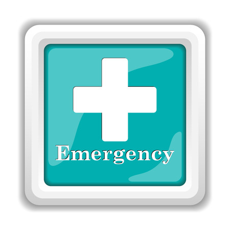 violent: Emergency icon. Internet button on white background. Stock Photo
