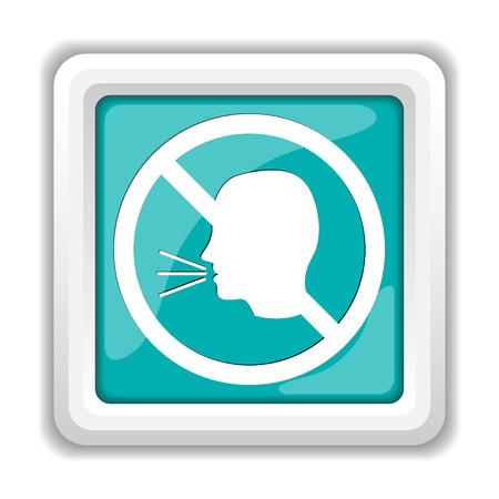 guardar silencio: No aparece el icono de conversación. Botón de internet sobre fondo blanco. Foto de archivo