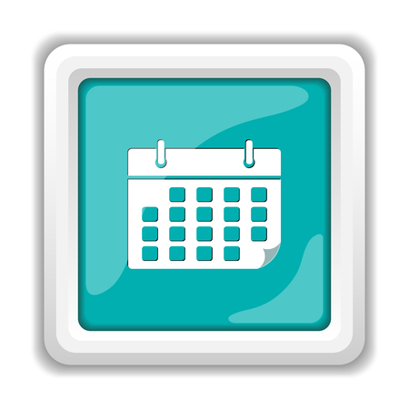 time bound: Calendar icon. Internet button on white background.