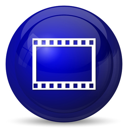 film strip: Photo icon. Internet button on white background.
