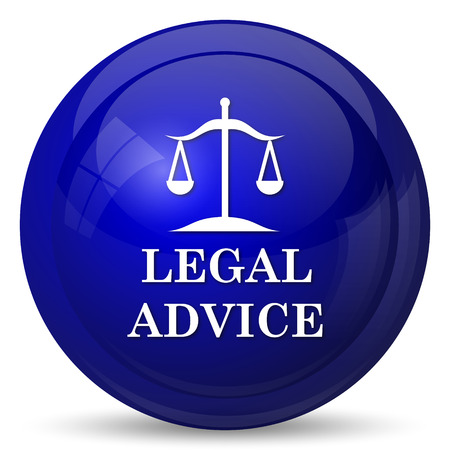 judiciary: Legal advice icon. Internet button on white background.