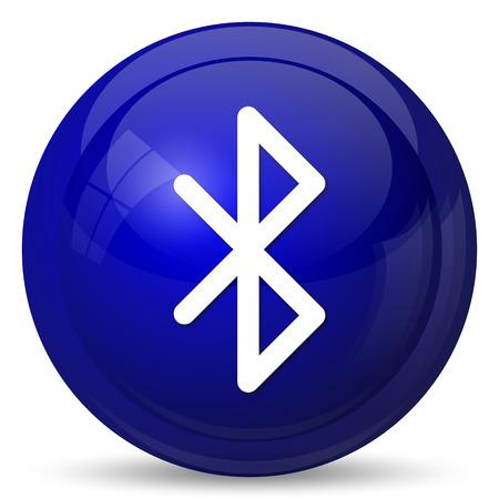 Bluetooth icon. Internet button on white background. Stock Photo