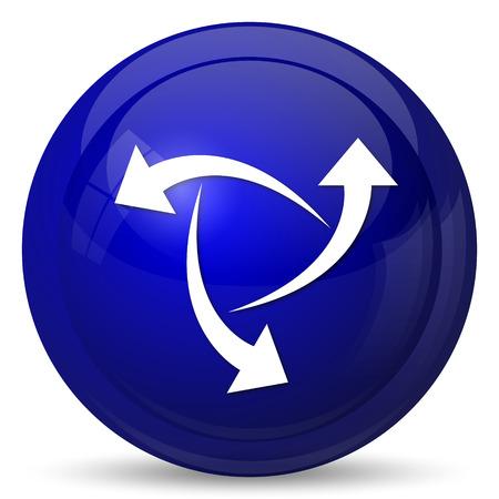 succes: Change icon. Internet button on white background.
