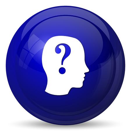 quiz test: Quiz icon. Internet button on white background. Stock Photo