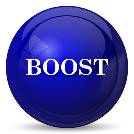 boost: Boost icon. Internet button on white background. Stock Photo
