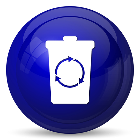dumpster: Recycle bin icon. Internet button on white background.