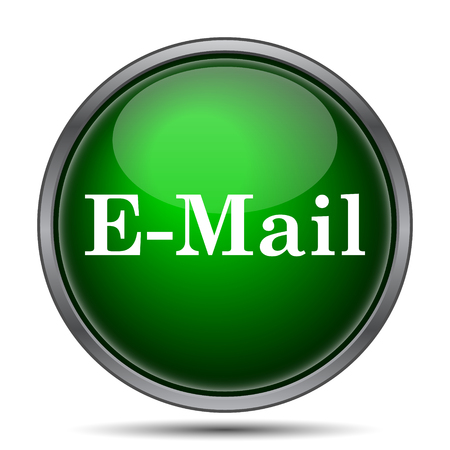 contact us: E-mail icon. Internet button on white background.