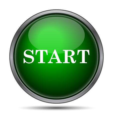 Start icon. Internet button on white background.