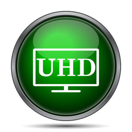 hdtv: Ultra HD icon. Internet button on white background.