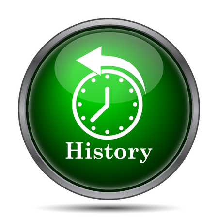History: History icon. Internet button on white background.