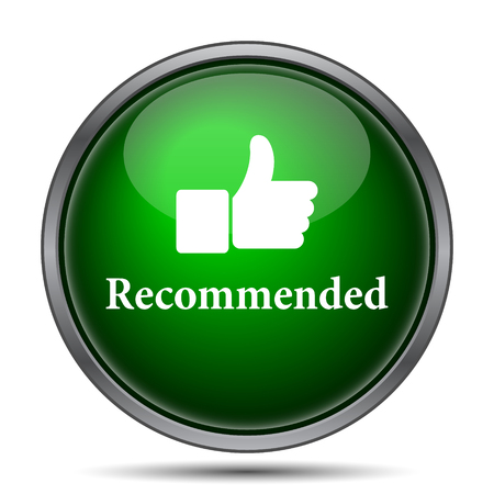 Recommended icon. Internet button on white background. Фото со стока