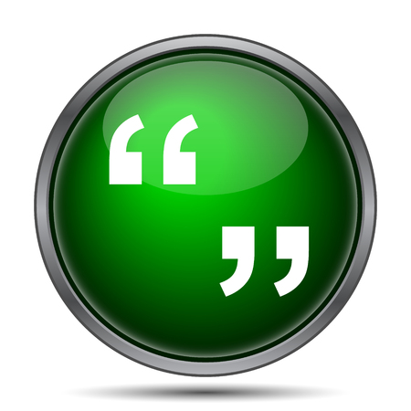 quotation marks: Quotation marks icon. Internet button on white background.