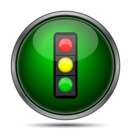Traffic light icon. Internet button on white background. Фото со стока