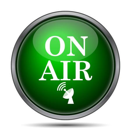 presenter: On air icon. Internet button on white background. Stock Photo