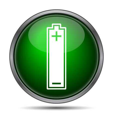 button batteries: Battery icon. Internet button on white background.