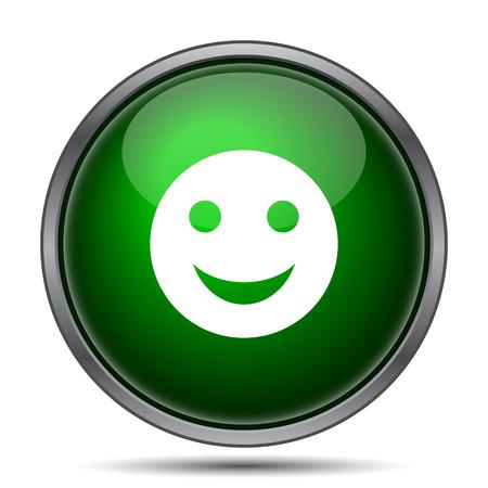 smily: Smiley icon. Internet button on white background.