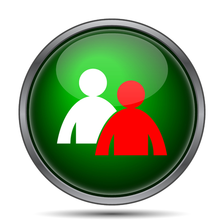 work related: Mentoring icon. Internet button on white background.