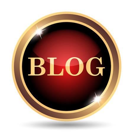 Blog icon. Internet button on white background.