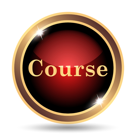 website buttons: Course icon. Internet button on white background.