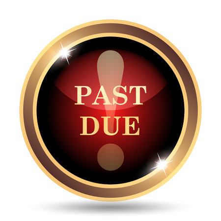 past due: Past due icon. Internet button on white background.
