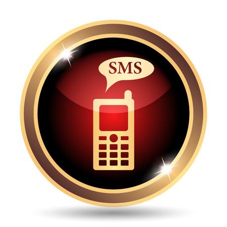 gsm: SMS icon. Internet button on white background.