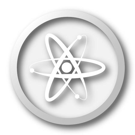 gamma radiation: Atoms icon. Internet button on white background.