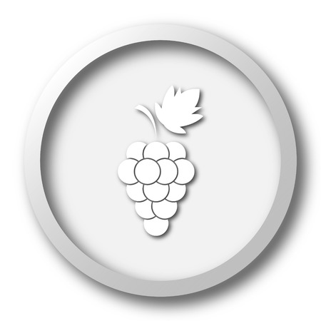 vitamin store: Grape icon. Internet button on white background. Stock Photo
