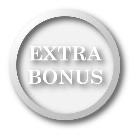 price gain: Extra bonus icon. Internet button on white background.