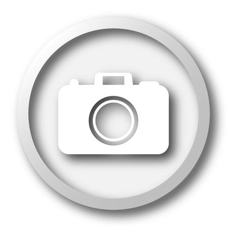 pic  picture: Photo camera icon. Internet button on white background.