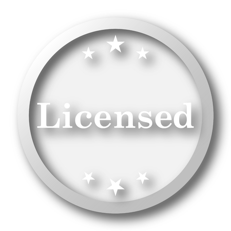 Licensed icon. Internet button on white background.