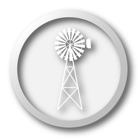 alternate: Classic windmill icon. Internet button on white background.