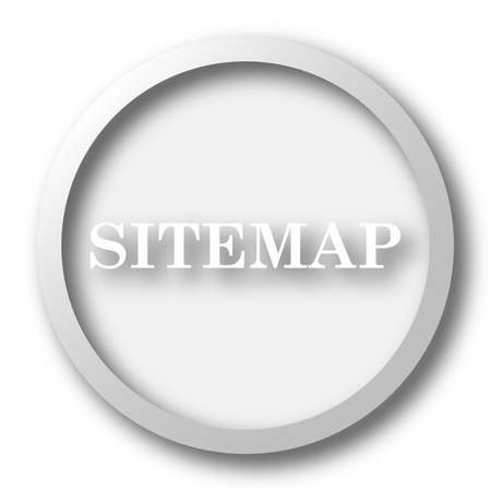 www community: Sitemap icon. Internet button on white background. Stock Photo