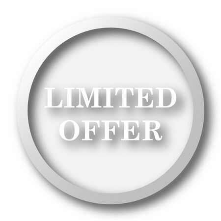 offer icon: Limited offer icon. Internet button on white background.