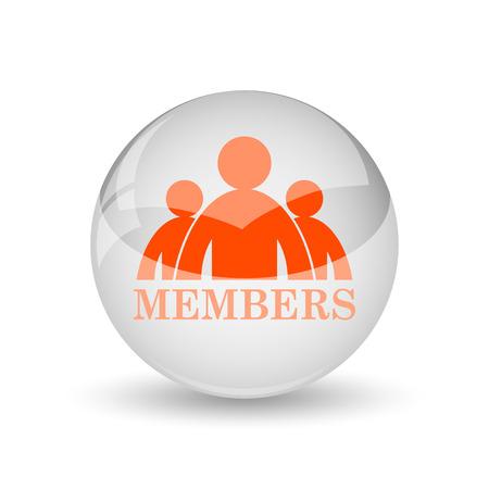 fellowship: Members icon. Internet button on white background. Stock Photo