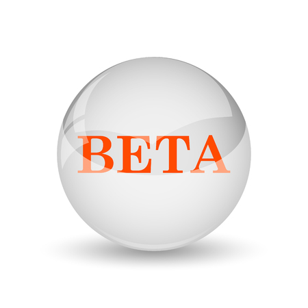 beta: Beta icon. Internet button on white background. Archivio Fotografico