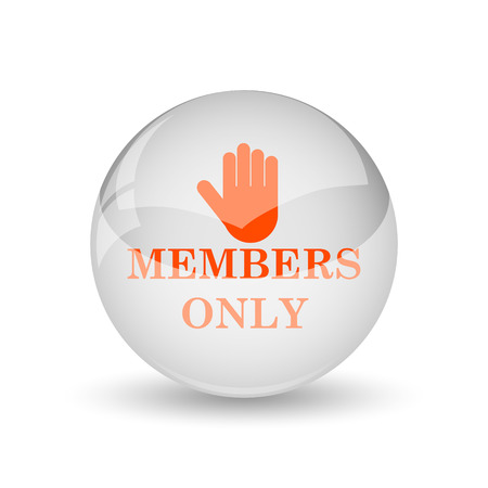 only: Members only icon. Internet button on white background.